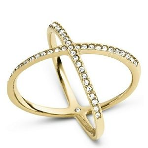 Gold MK X Ring NWT Size 8